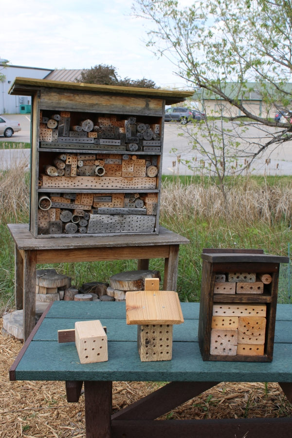Four sizes of bee houses. Pick a size that works best in your habitat.
